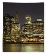 Bright Lights Big City Fleece Blanket