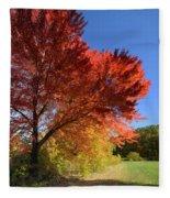 Bright Orange Of Fall Fleece Blanket