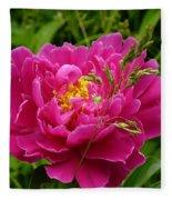 Bright Pink Blossoms Fleece Blanket