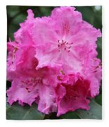Bright Pink Blossoms Fleece Blanket
