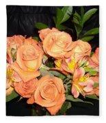 Bright Roses Fleece Blanket