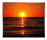 Bright Skies - Sunset Art By Sharon Cummings Fleece Blanket