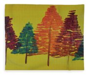 Bright Trees Fleece Blanket