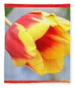 Bright Tulip Fleece Blanket