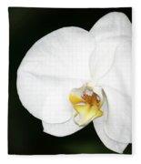 Bright White Orchid Fleece Blanket