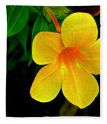 Bright Yellow Flower Fleece Blanket