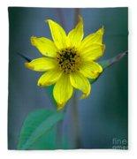 Bright Yellow Wildflower Fleece Blanket