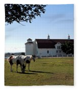 Brighton Barn And Horses Fleece Blanket