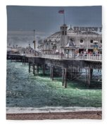Brighton Pier Fleece Blanket