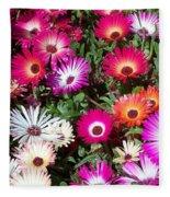 Brilliant Flowers Fleece Blanket