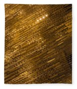 Brilliant Gold And Gems And Jewels Fleece Blanket
