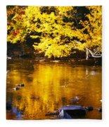 Brilliant Yellows Fleece Blanket