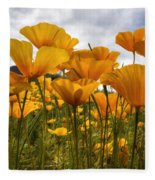 Bring On The Poppies Fleece Blanket