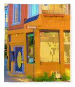 Bring Your Own Wine Restaurant Vents Du Sud Rue Roy Corner French Cafe Street Scene Carole Spandau Fleece Blanket