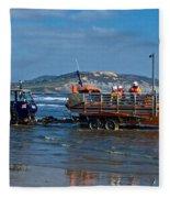 Bringing In The Lifeboat Fleece Blanket