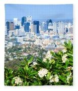 Brisbane Cbd Fleece Blanket