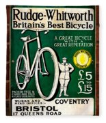 Britains Best Bicycle Fleece Blanket