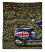 British At Heart Fleece Blanket by Evelina Kremsdorf
