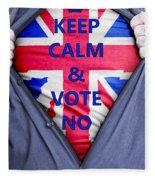 British Businessman Votes No Fleece Blanket