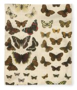 British Butterflies Fleece Blanket