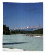 British Columbia Rockies Fleece Blanket