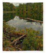 British Columbia Starvation Lake Fleece Blanket