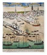 British Landing, 1768 Fleece Blanket