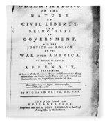 British Pamphlet, 1776 Fleece Blanket