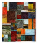 Brocade Color Collage 2.0 Fleece Blanket