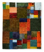Brocade Color Collage 3.0 Fleece Blanket