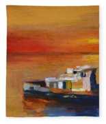 Brod Na Klisanskom Kanalu Fleece Blanket