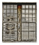 Broken Blinds At The Train Station By Diana Sainz Fleece Blanket