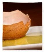 Broken Brown Egg  Fleece Blanket
