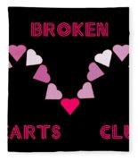 Broken Hearts Club Fleece Blanket