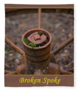 Broken Spoke Fleece Blanket