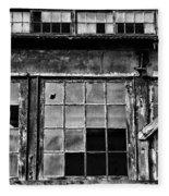Broken Windows In Black And White Fleece Blanket