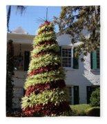 Bromelia Christmas Tree Fleece Blanket