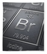 Bromine Chemical Element Fleece Blanket
