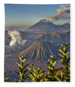 Bromo Tengger Semeru National Park Fleece Blanket