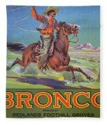 Bronco Oranges Fleece Blanket