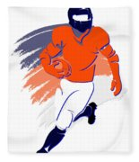Broncos Shadow Player2 Fleece Blanket