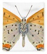 Bronze Copper Butterfly Fleece Blanket