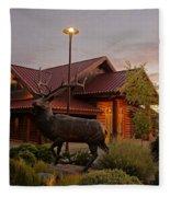 Bronze Elk At Taprock Fleece Blanket
