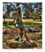 Bronze Girl At Woodward Park Fleece Blanket