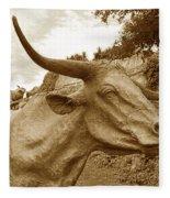 Bronze Longhorn Fleece Blanket