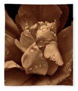 Bronze Ruffled Parrot Tulip Flower Fleece Blanket