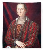 Bronzino's Eleonora Di Toledo Fleece Blanket