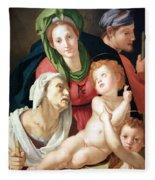 Bronzino's The Holy Family Fleece Blanket