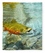 Brook Trout And Silver Doctor Fleece Blanket
