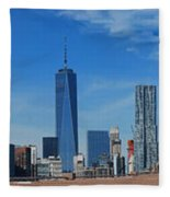 Brooklyn Bridge And Lower Manhattan Fleece Blanket